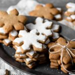 Snowflake Maple Cookies that are soft gingerbread cookies.