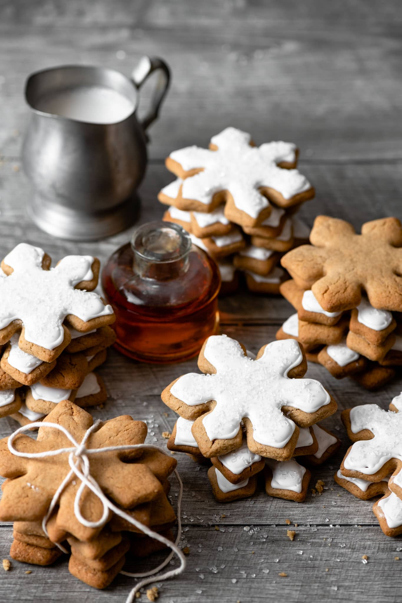 Maple Syrup sweetened gingerbread cookies.