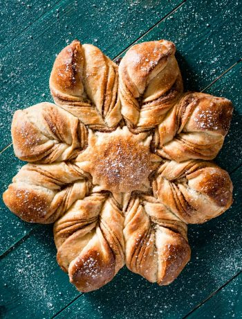 Cinnamon Star Bread Recipe for Christmas.