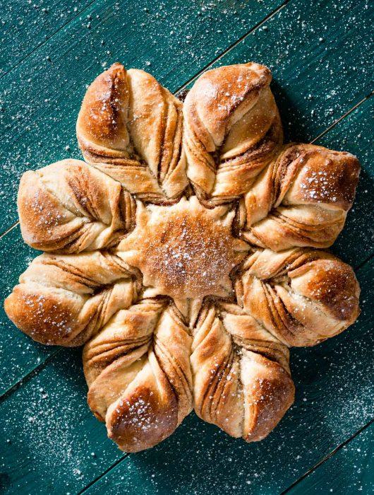 Cinnamon Star Bread Recipe for Christmas.