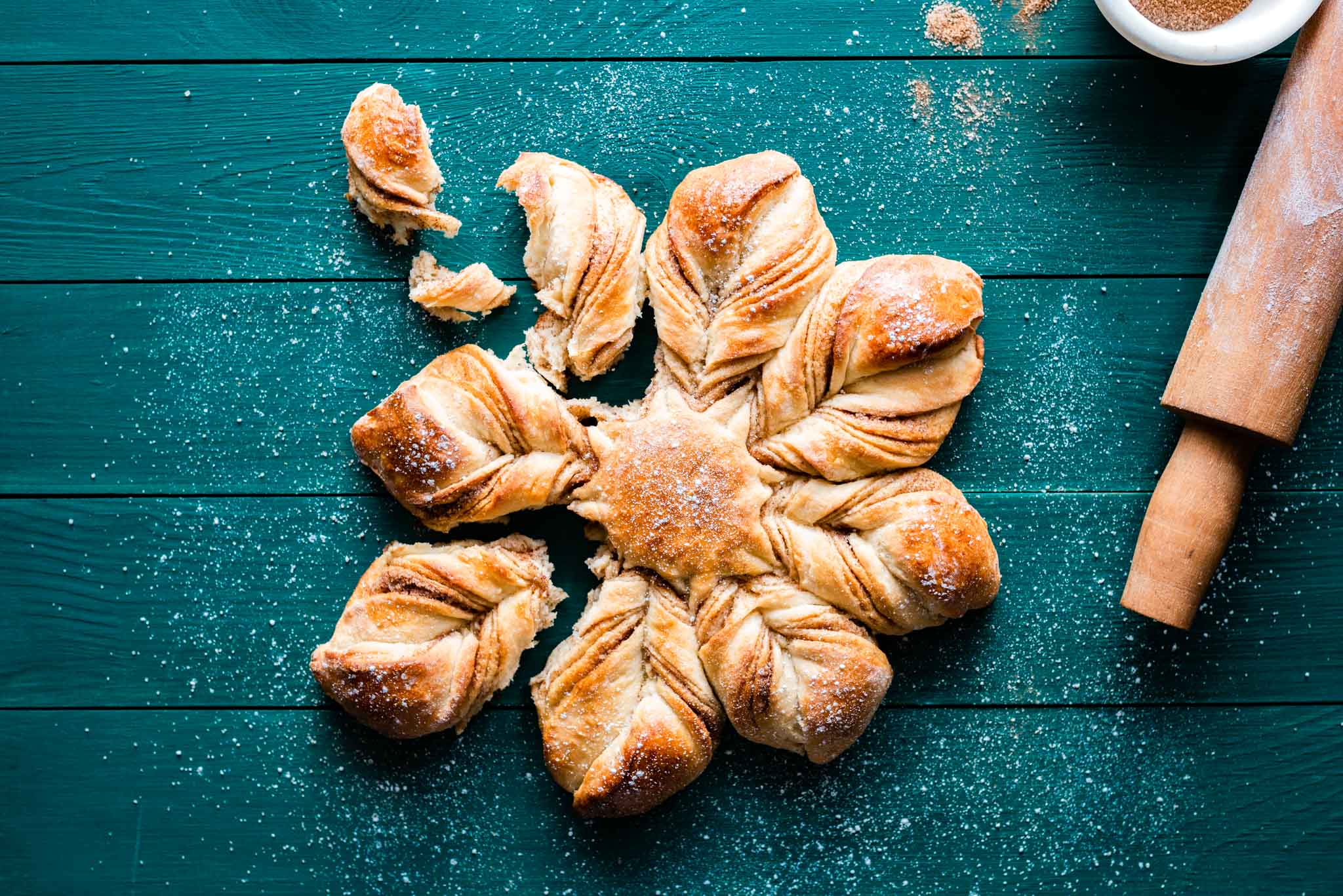 Christmas Cinnamon Star Bread Recipe.