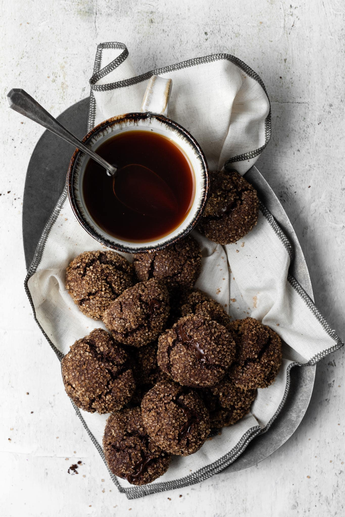 Chocolate Cookies with chai spice and chai tea.