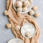 Carrot Cake Bliss Balls rolled in Coconut