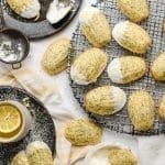 Lemon Poppyseed Madeleines with Lemon Cream Cheese Frosting