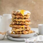 rosemary and cheddar buttermilk waffles with remoulade sauce