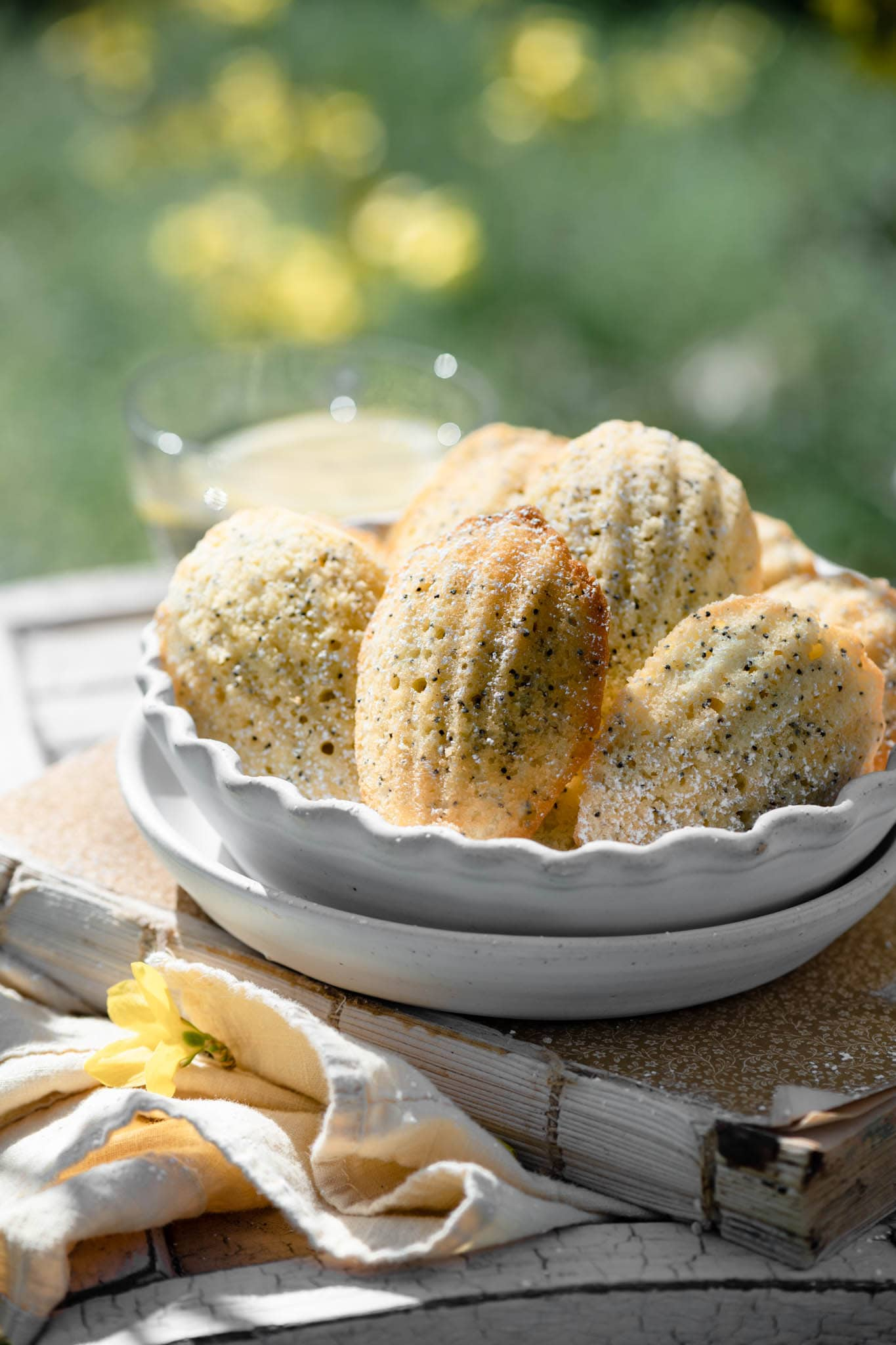 Lemon Recette Madeleines with poppyseeds.