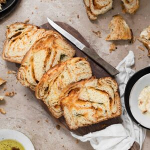 sliced pizza bread
