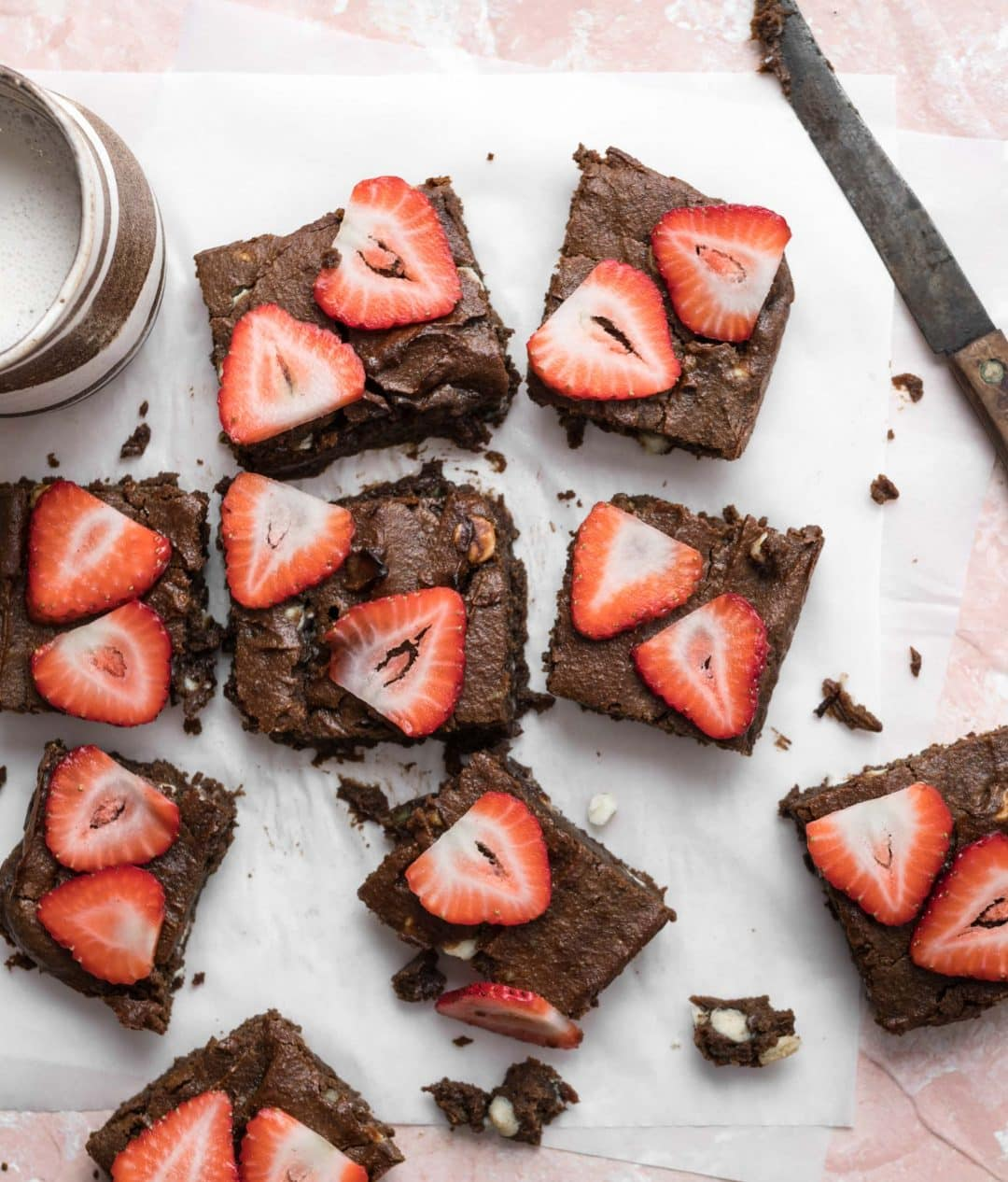 Outrageous Brownies with Avocado and Strawberries