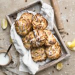 braided lemon pecan sticky buns