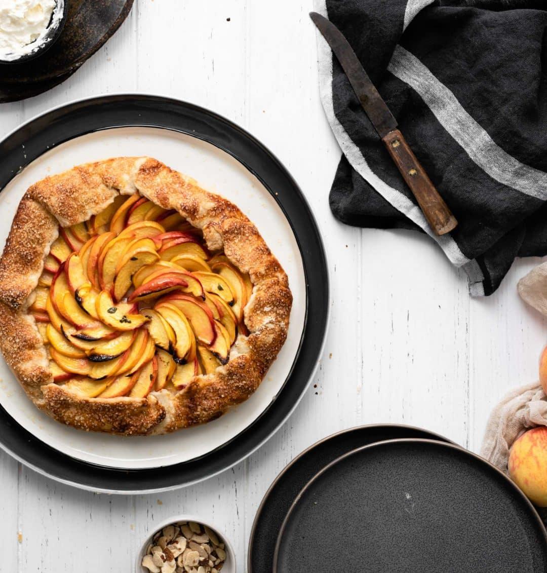 bakes lemon thyme peach galette