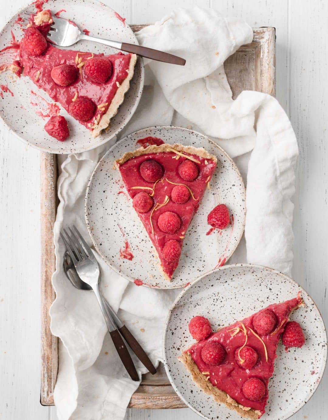 raspberry lemon tart slices