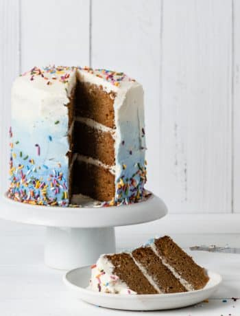 Simple Mills Gluten Free Cake sliced