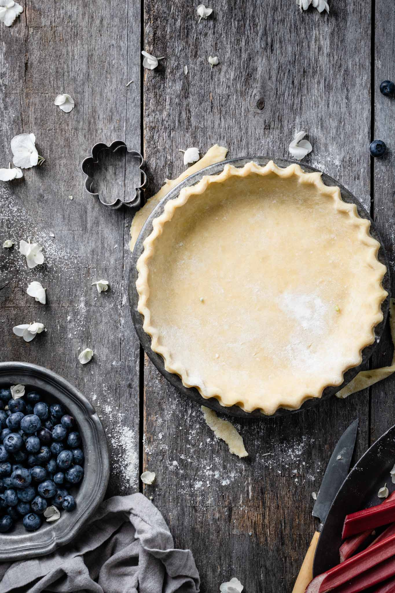 Recipe for homemade pie crust.