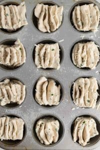 Fantail Muffins Recipe in Muffin Tin