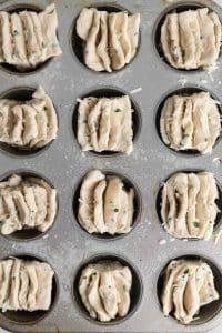 Fantail Muffins Recipe in Muffin Tin