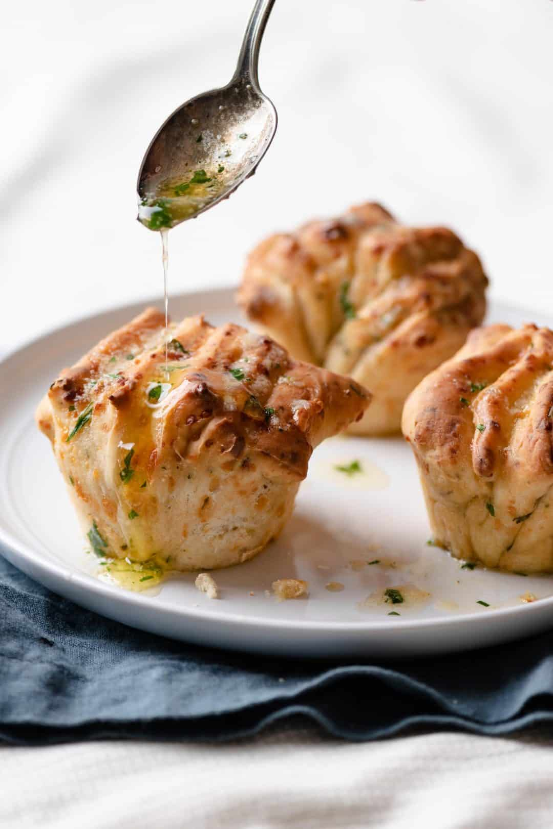 Parmesan Bread Recipe with Parsley butter drizzle