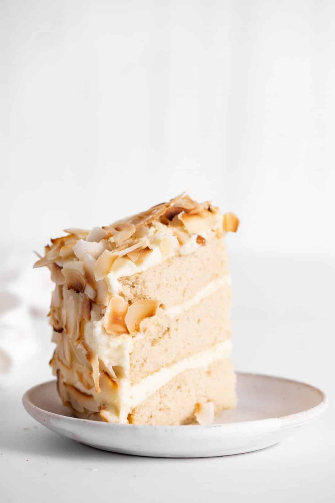 Easy Coconut Cake Recipe Layered Cake Slice
