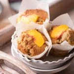 Peach Muffins Recipe with fresh Peaches