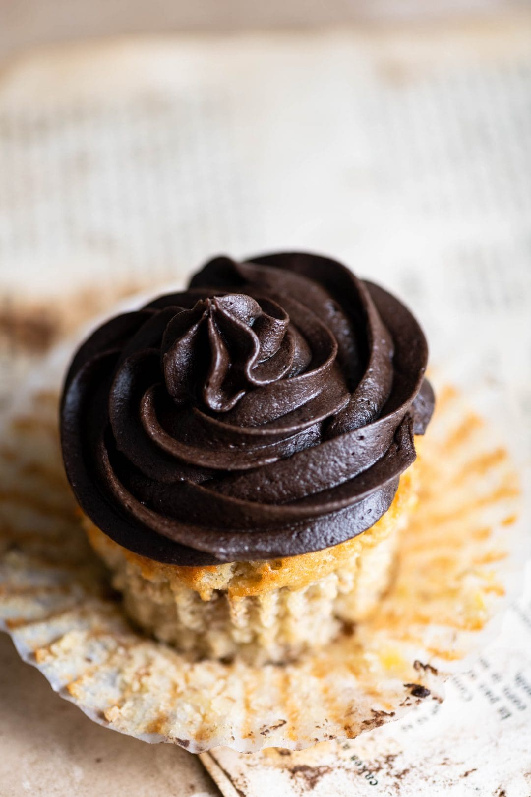 Banana Cupcake with Chocolate Espresso Buttercream Frosting