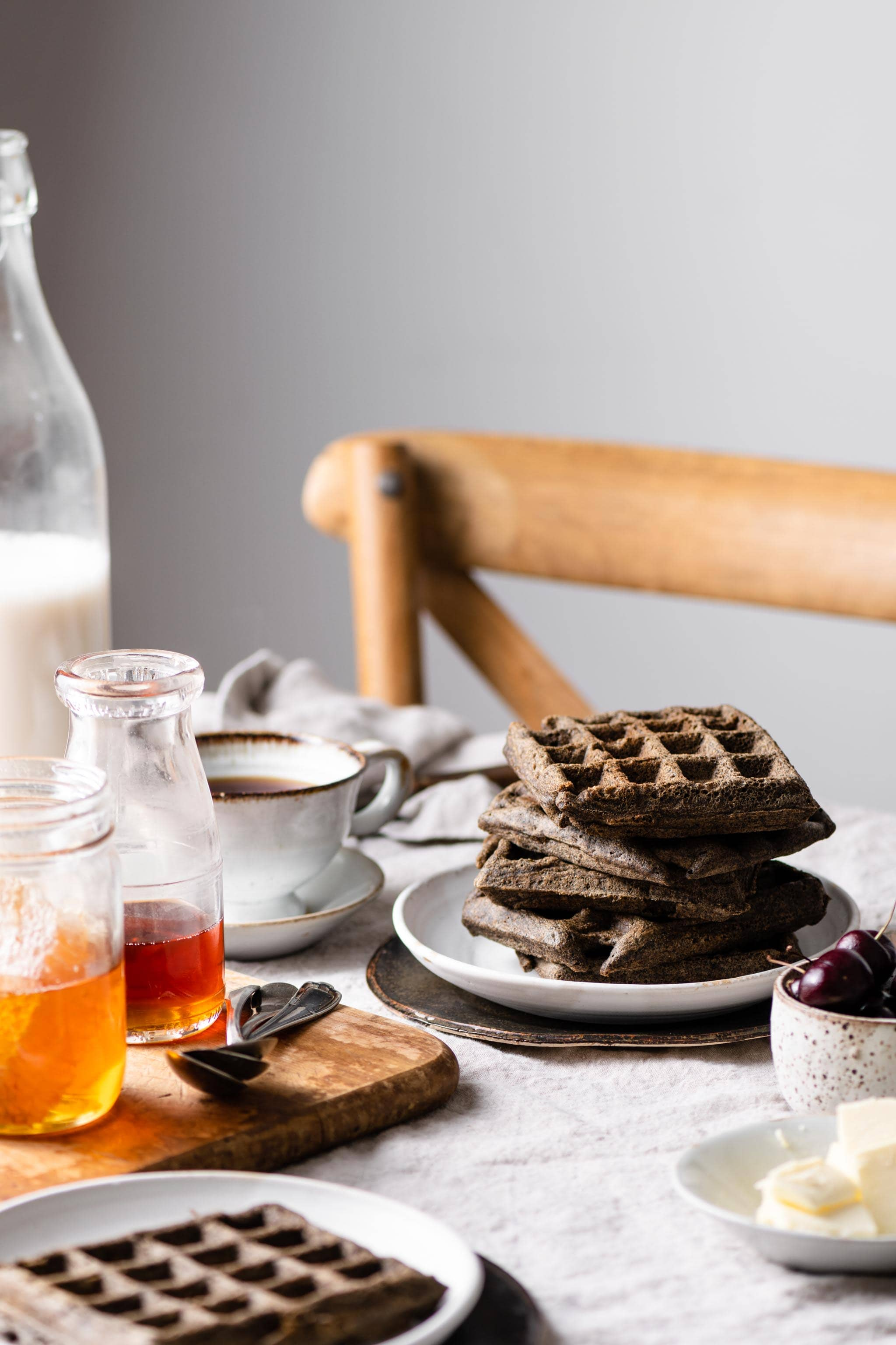 Buckwheat Waffles Recipe for breakfast