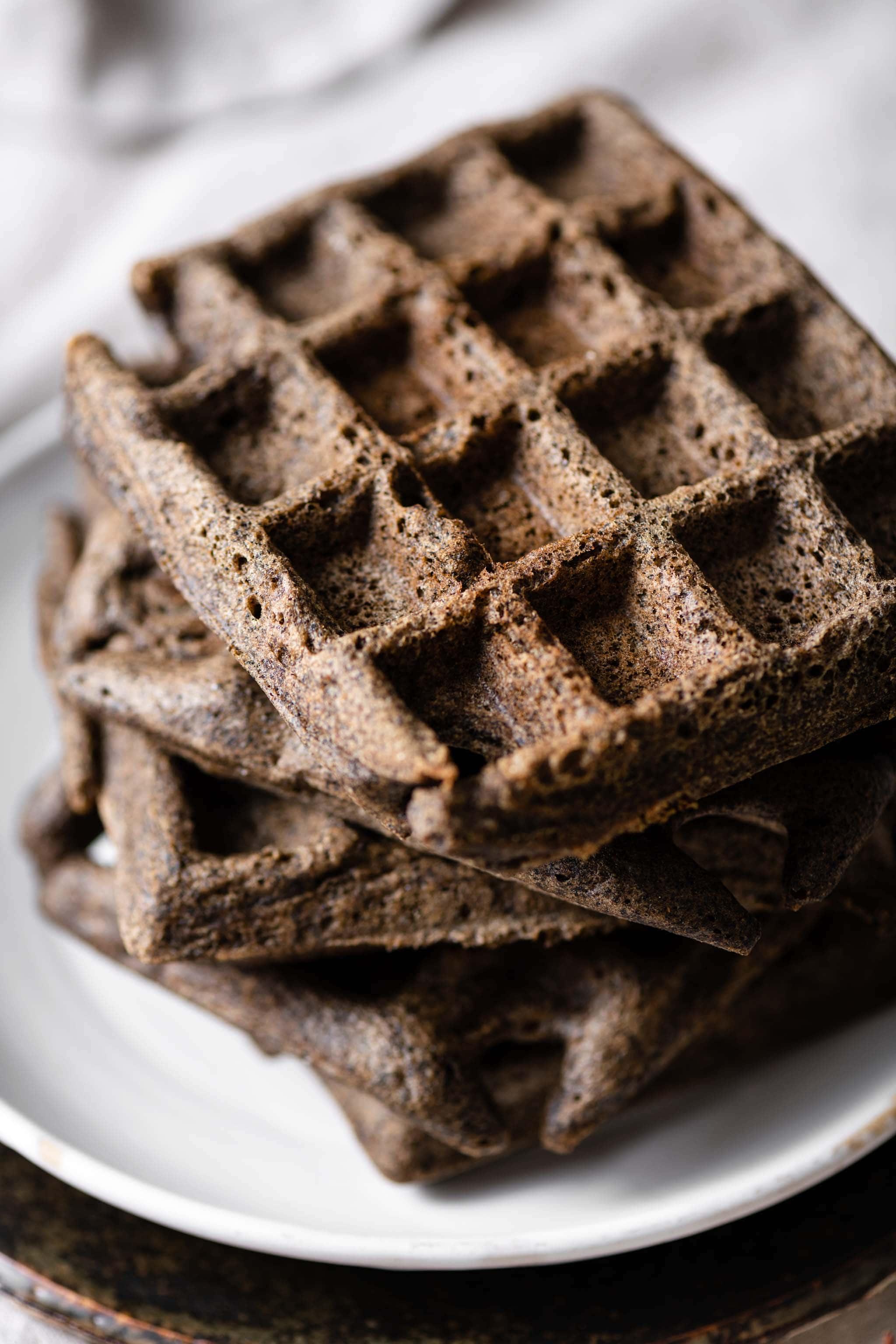 Gluten Free Buckwheat Waffle Stack