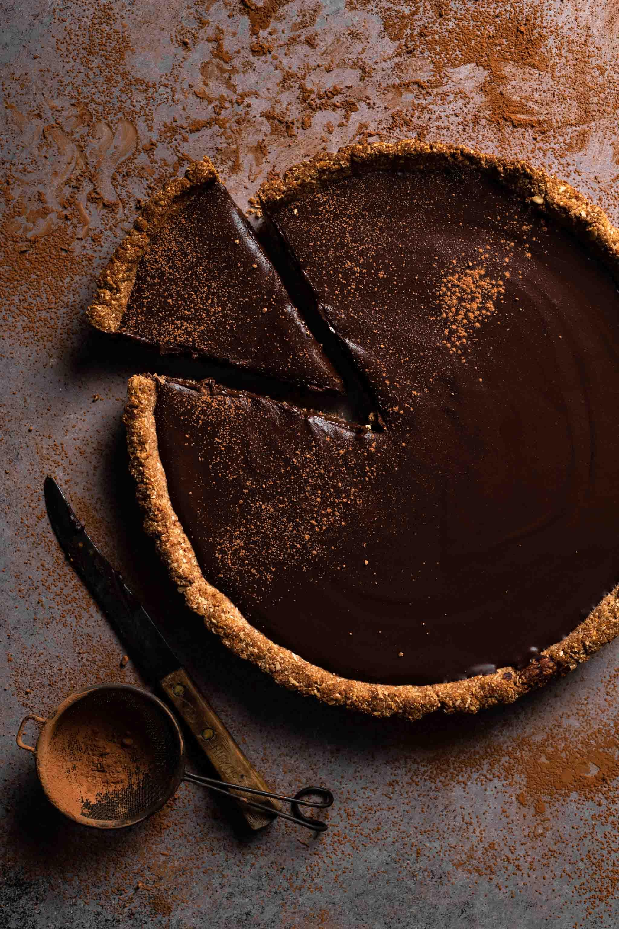 Chocolate Tart Recipe with chocolate ganache