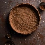 Chocolate Tart Crust Recipe with coconut and maple syrup