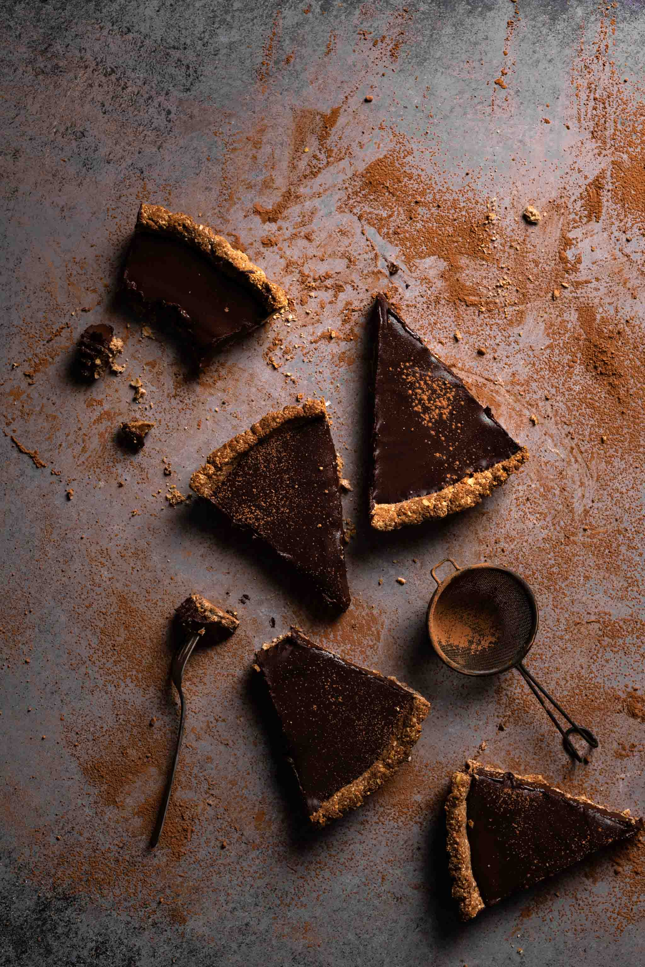 Slices of Chocolate Tart