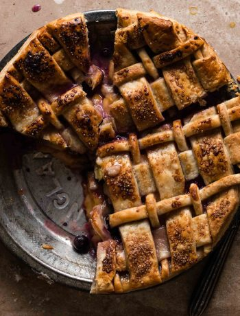 Peach Blueberry Pie with Lattice crust