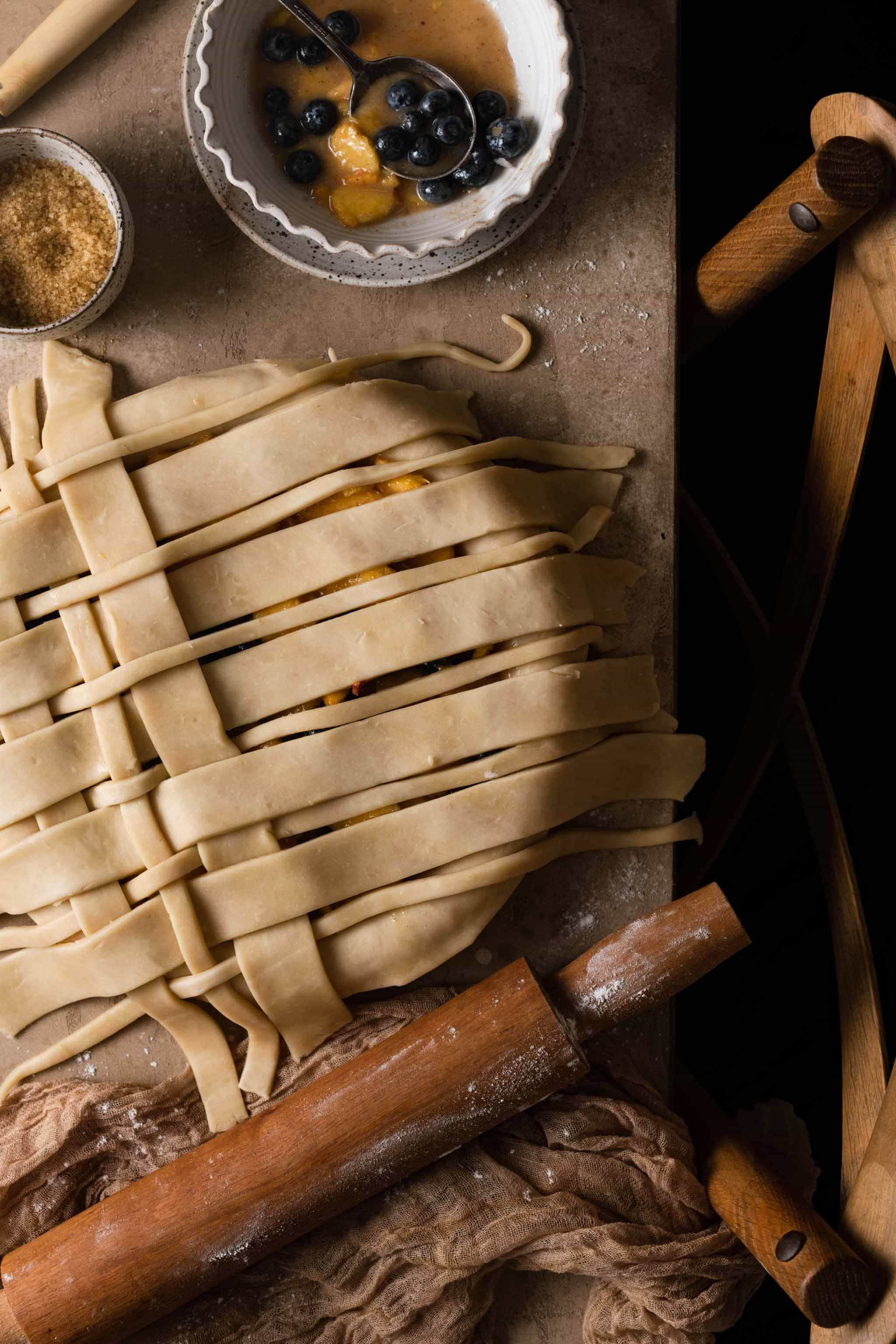 How to fold pie crust lattice