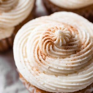 Recipe for Maple Vanilla Buttercream Frosting for Cupcakes
