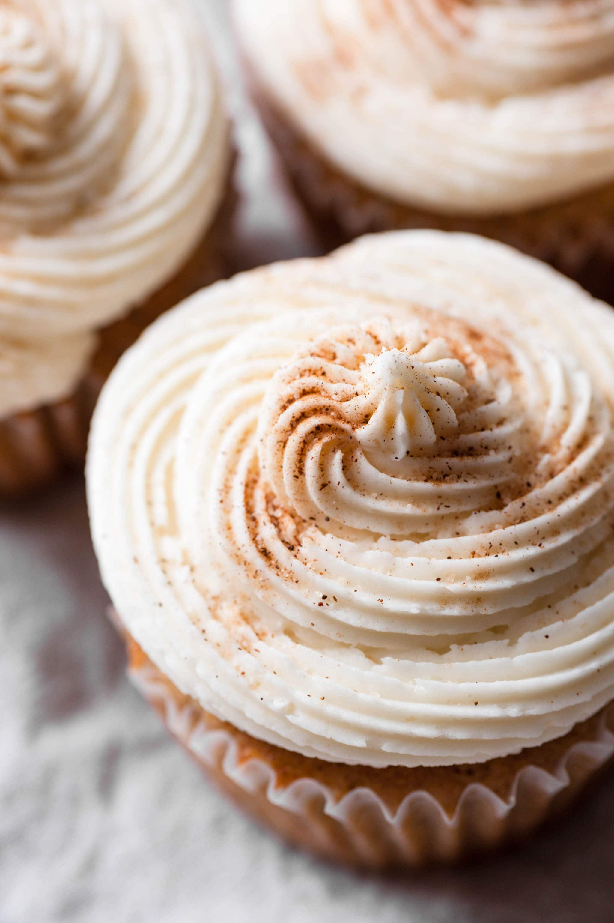 Filled Cupcake Recipe with Maple Vanilla Frosting