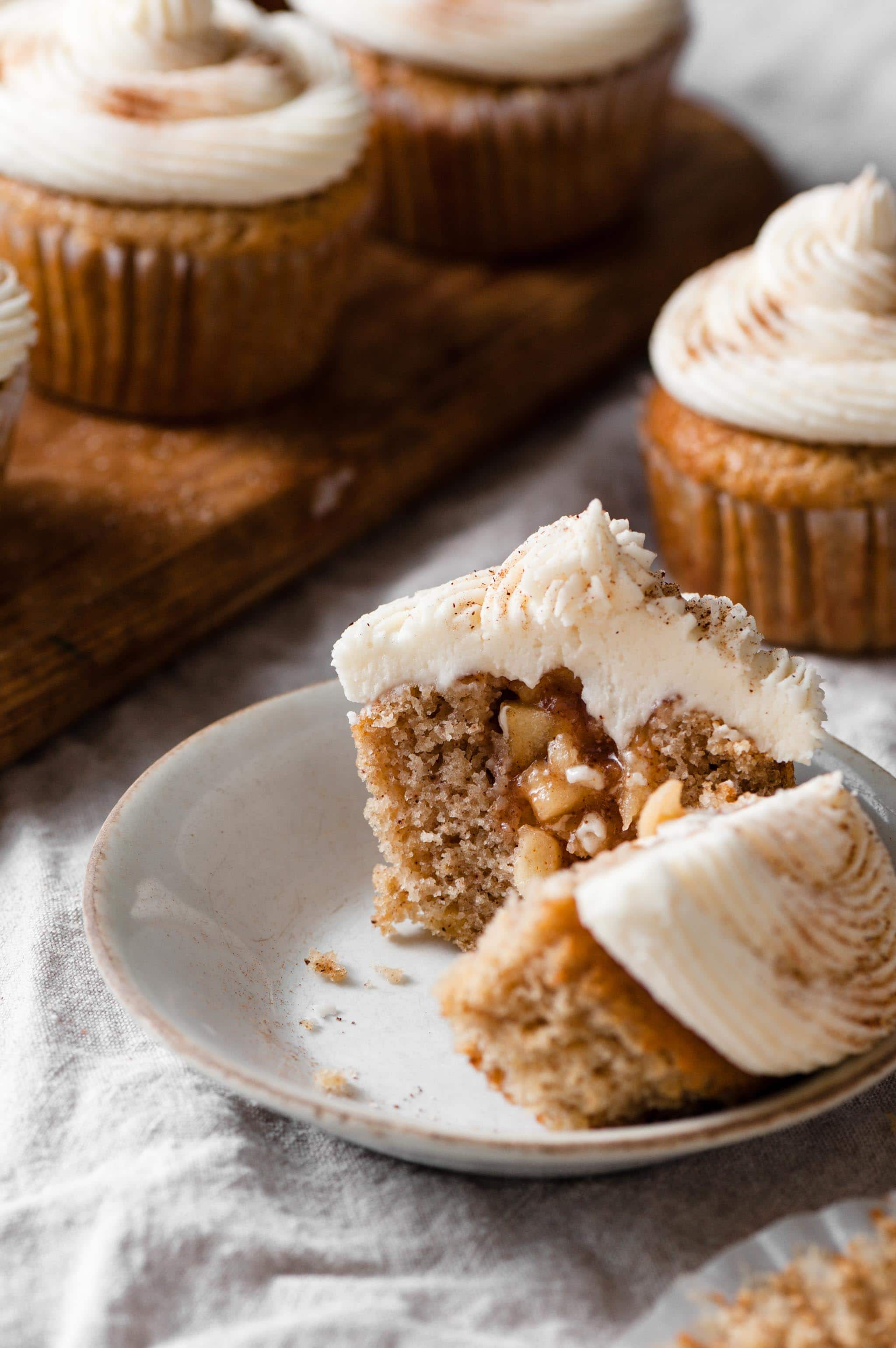 Filled Cupcakes with Apple Pie Filling