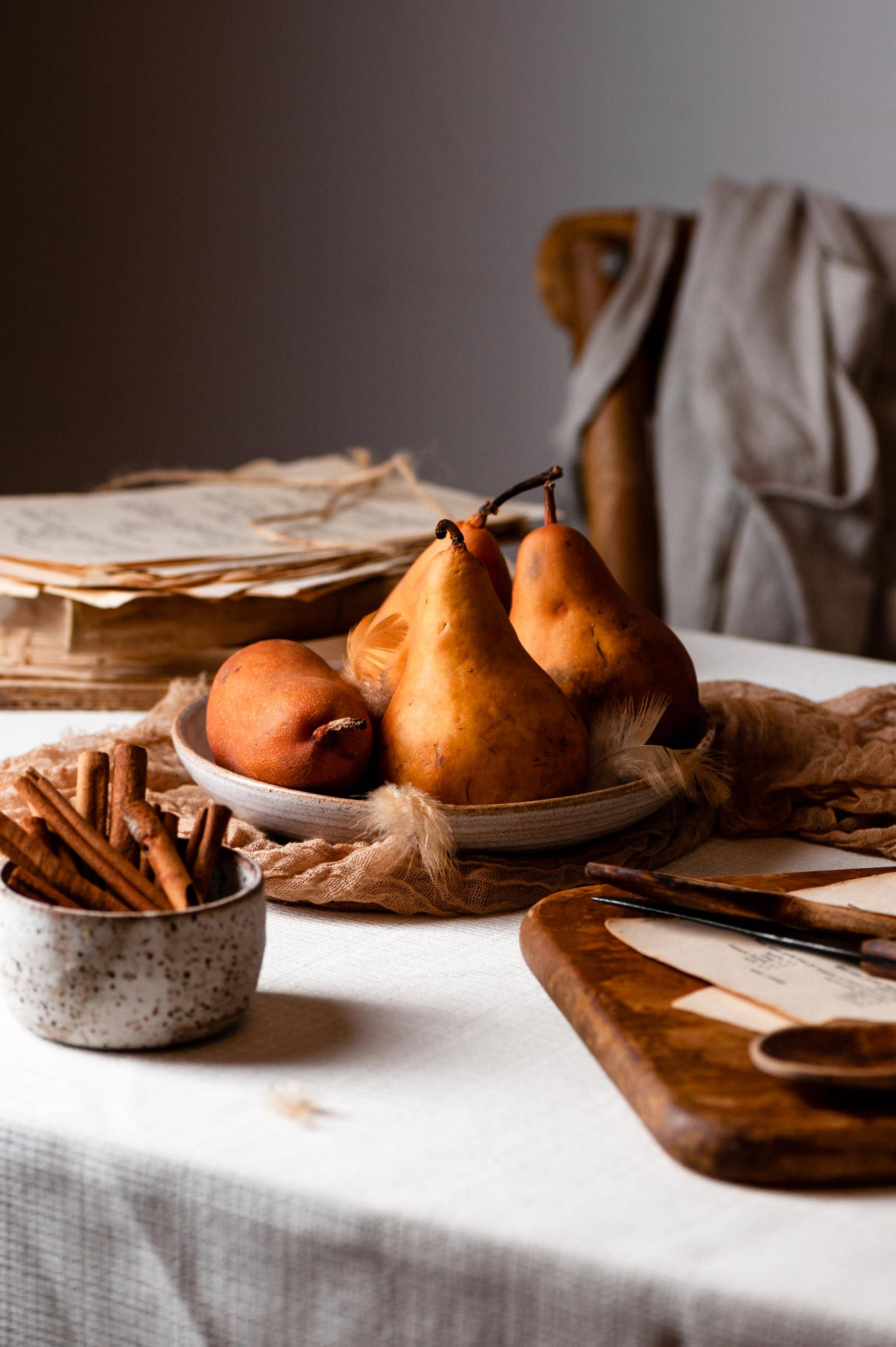 Autumn Rustic Kitchen with Bosch Pears
