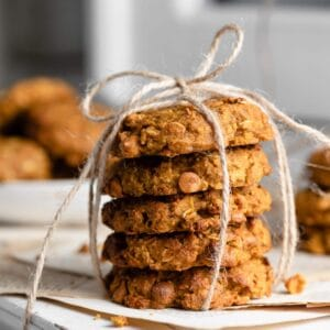 Oatmeal Butterscotch Pumpkin Cookies Recipe for fall baking gifts.