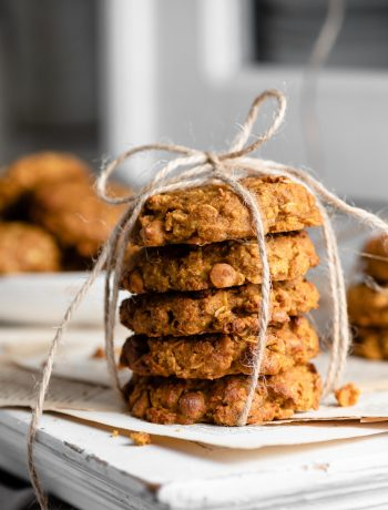 Oatmeal Butterscotch Pumpkin Cookies Recipe for fall baking gifts