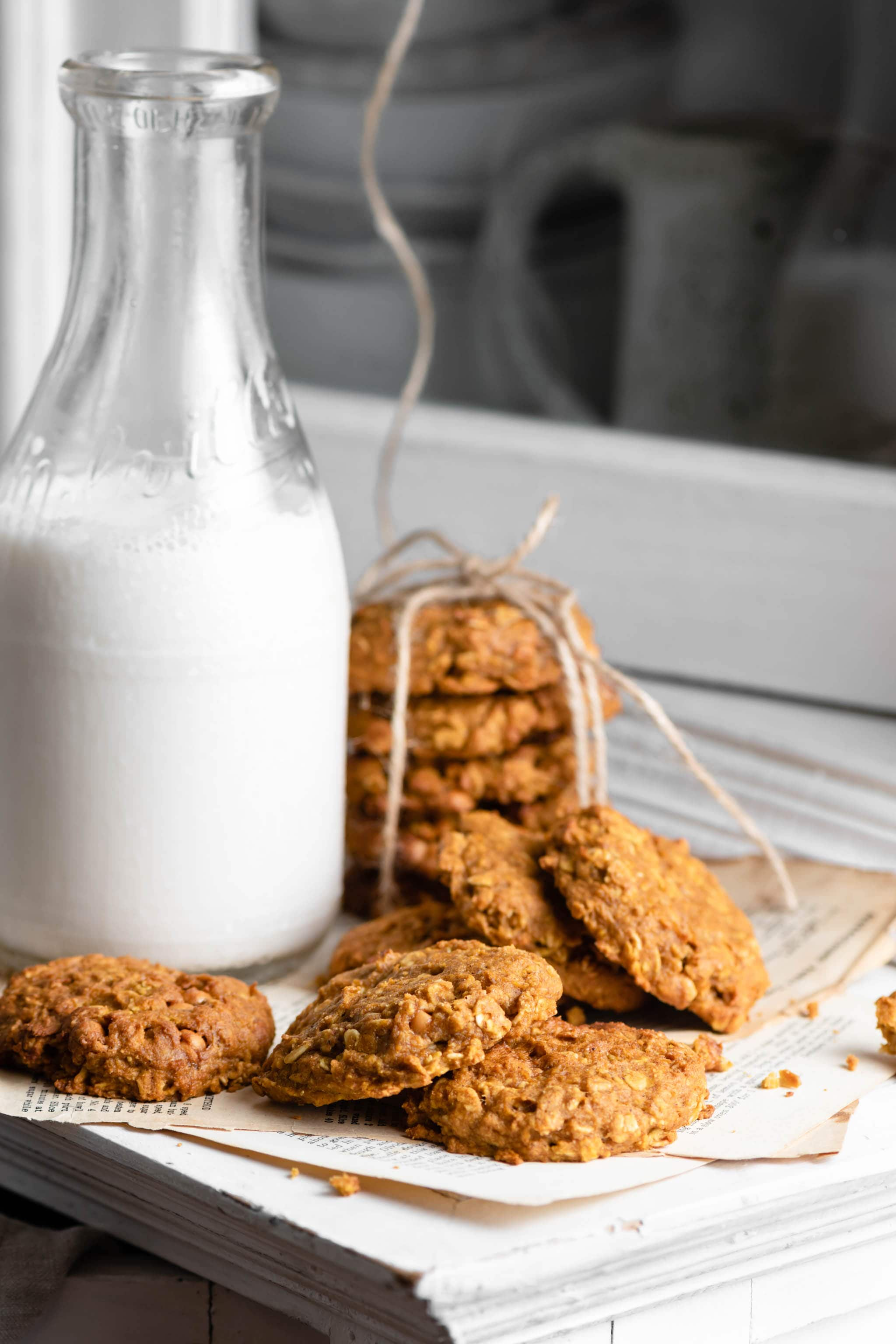 Butterscotch Pumpkin Cookies Recipe and Milk