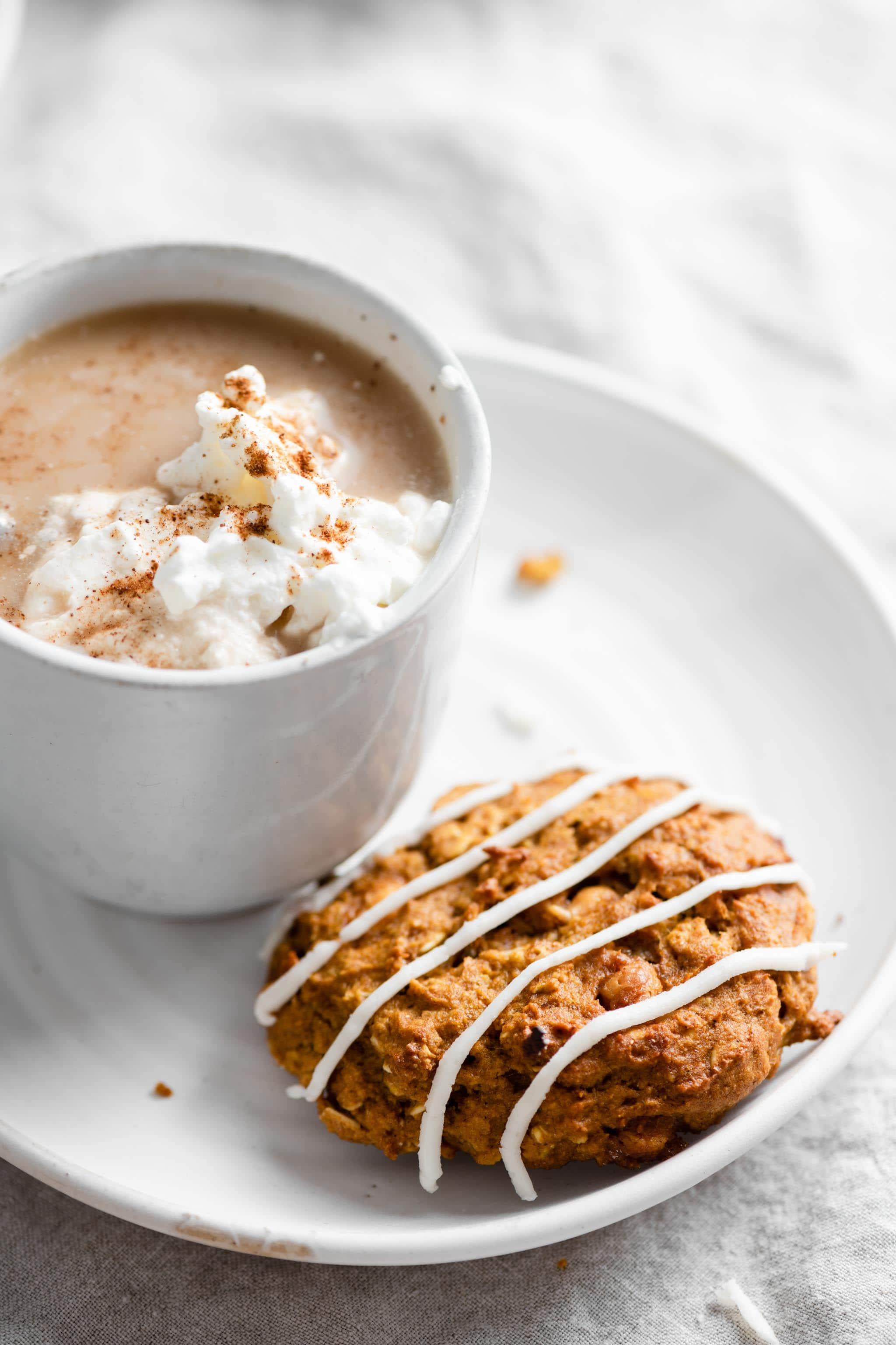 Butterscotch Pumpkin Cookie with Pumpkin Spiced Latte