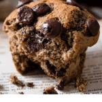 Recipe card for chocolate chip muffins.