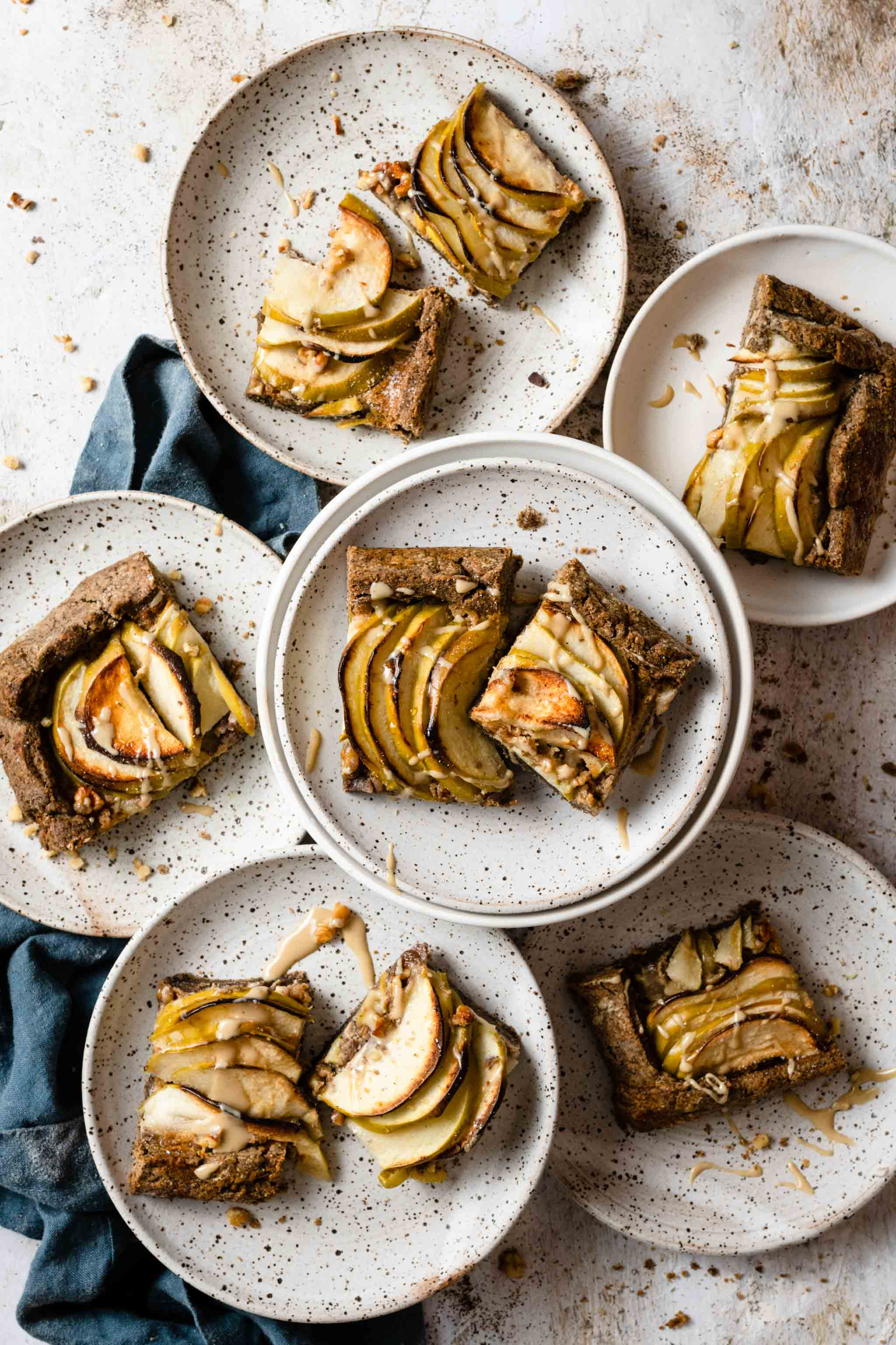 pear apple galette with buckwheat crust recipe
