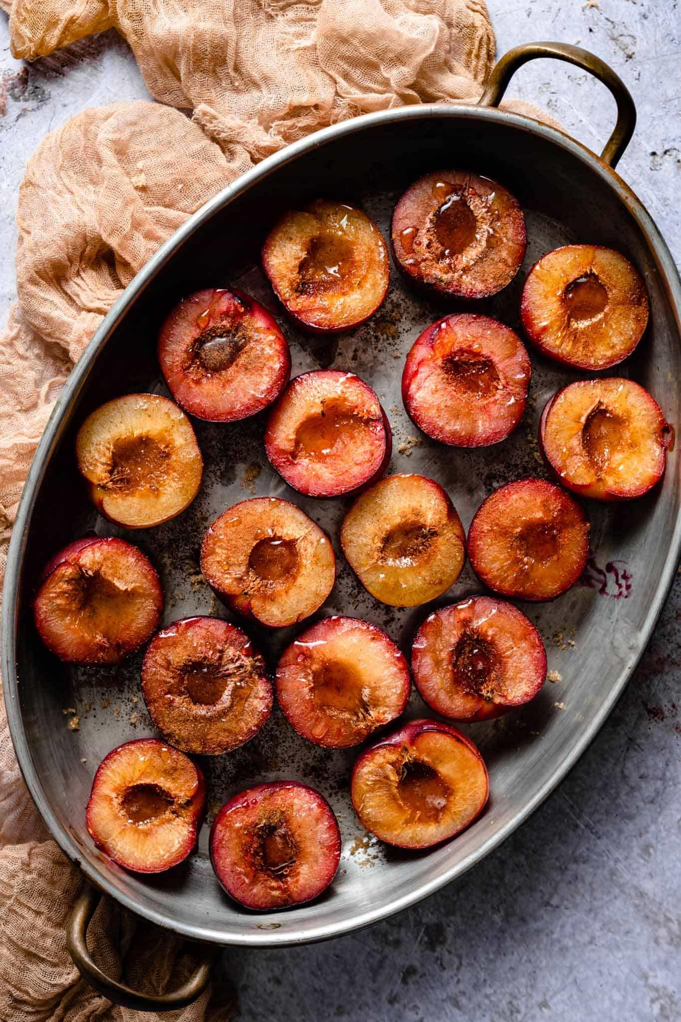 roasted plum recipe for plum puree