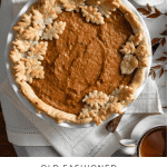 Recipe card for sweet potato pie.