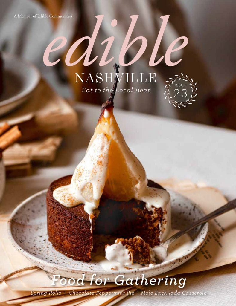 Edible Nashville Magazine Cover by Jenn Davis Food Photo and Two Cups Flour