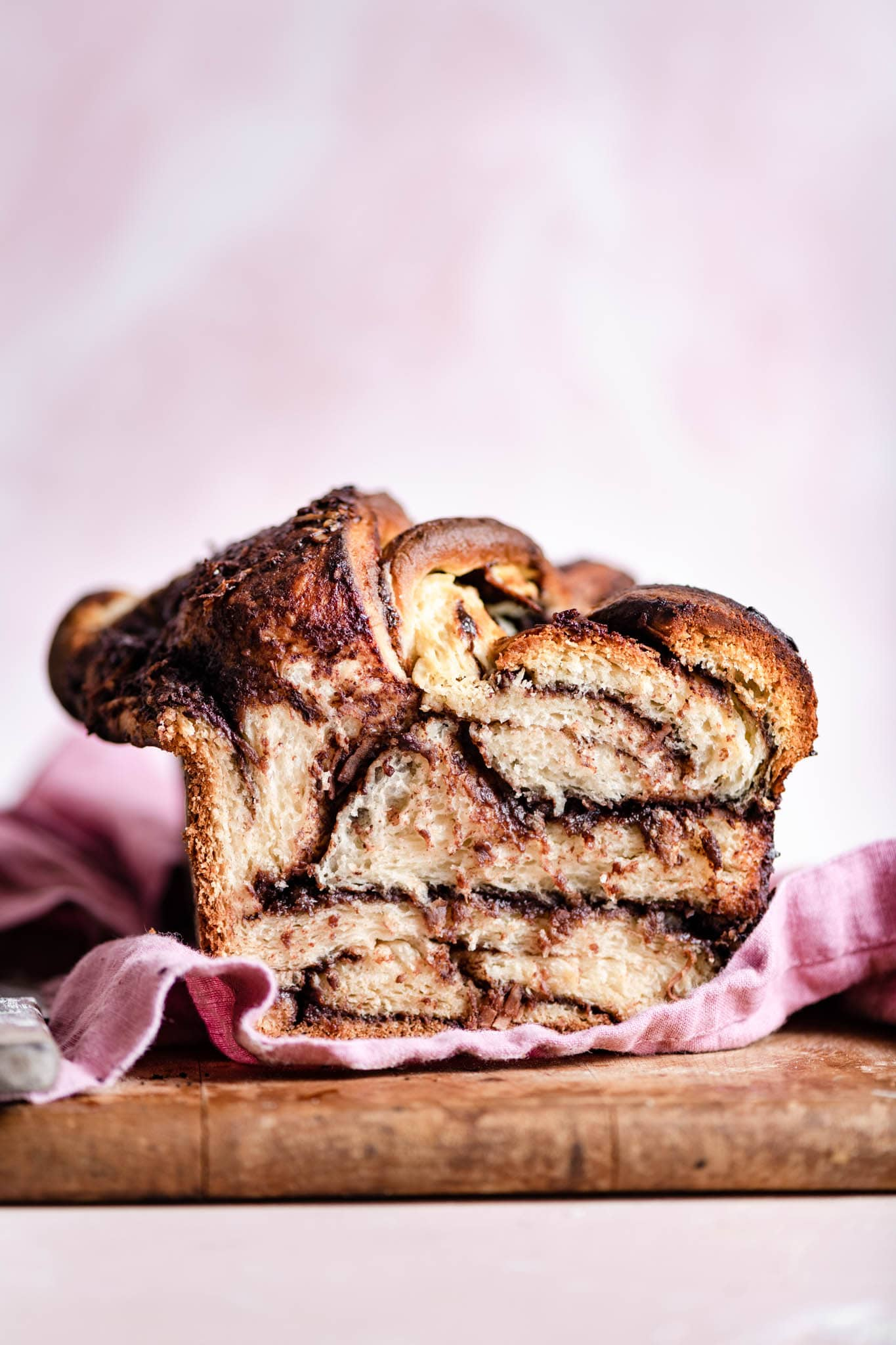 coconut chocolate babka bread loaf
