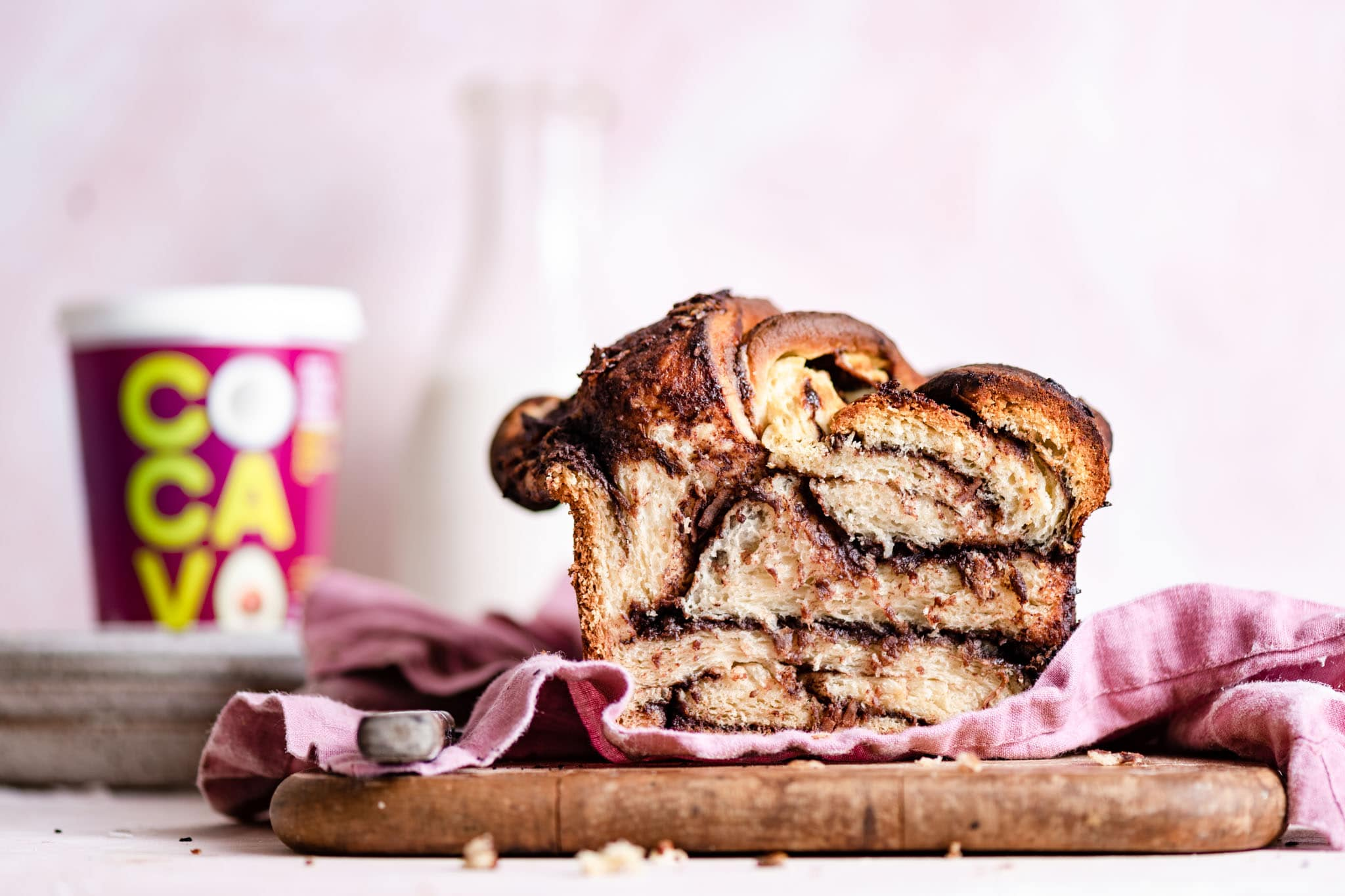 Cocavo Coconut Chocolate Babka Bread