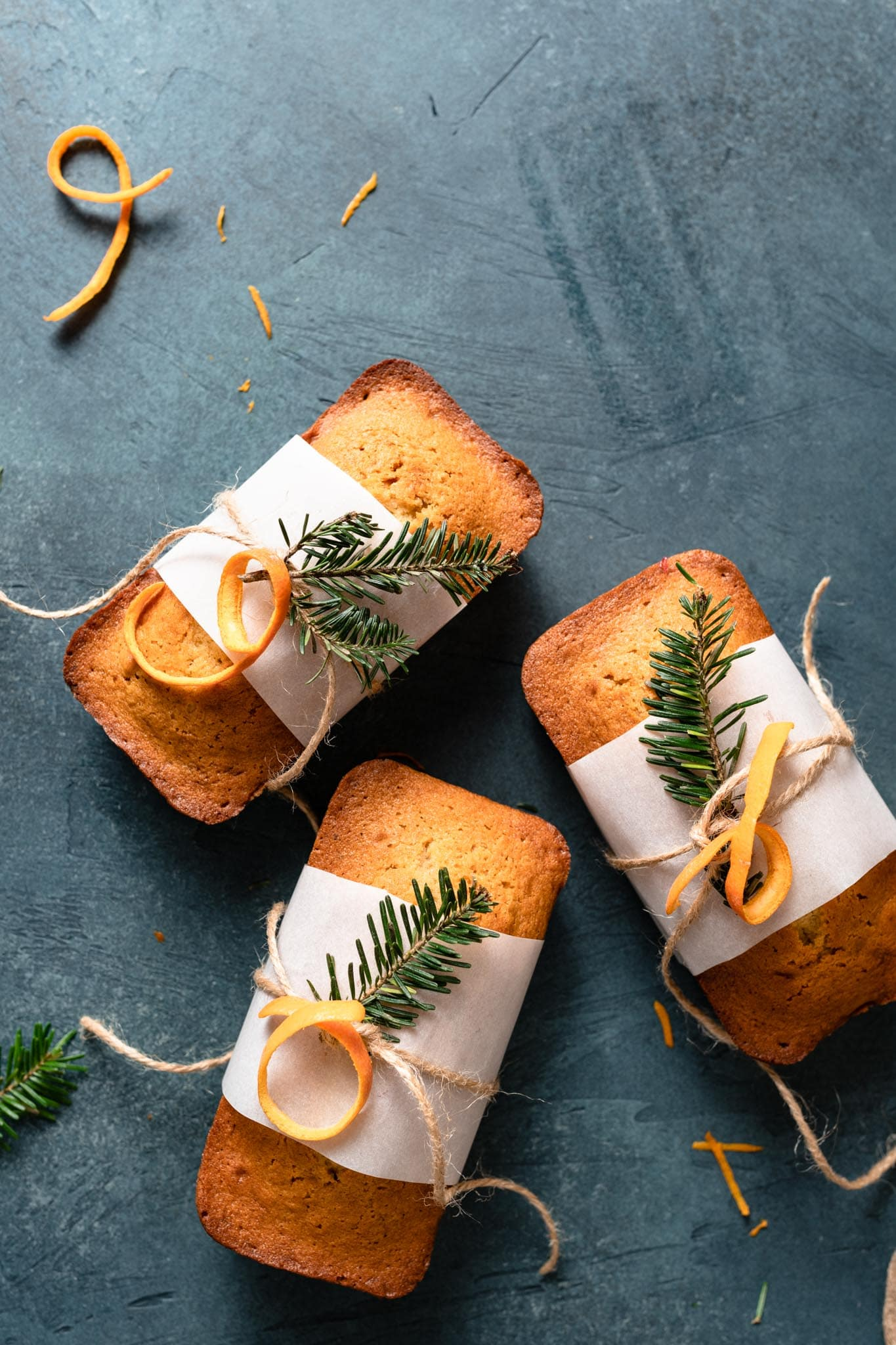 Holiday Cakes made with orange, ginger, and honey.