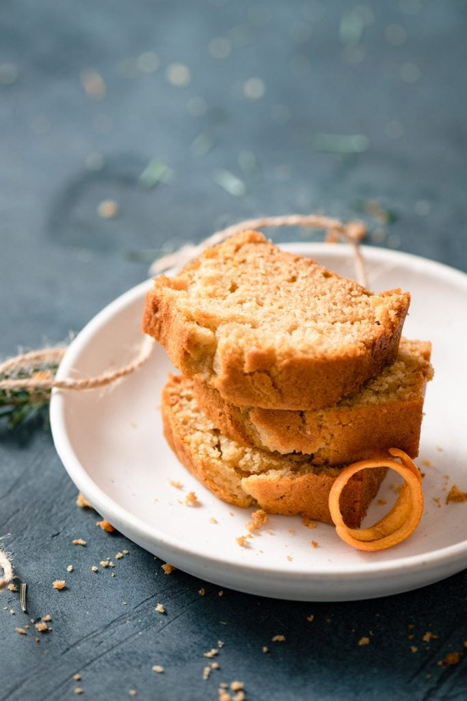 Slices of Orange Ginger Cake.