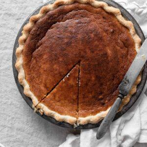 Homemade Pumpkin Pie recipe made with fresh pumpkin puree