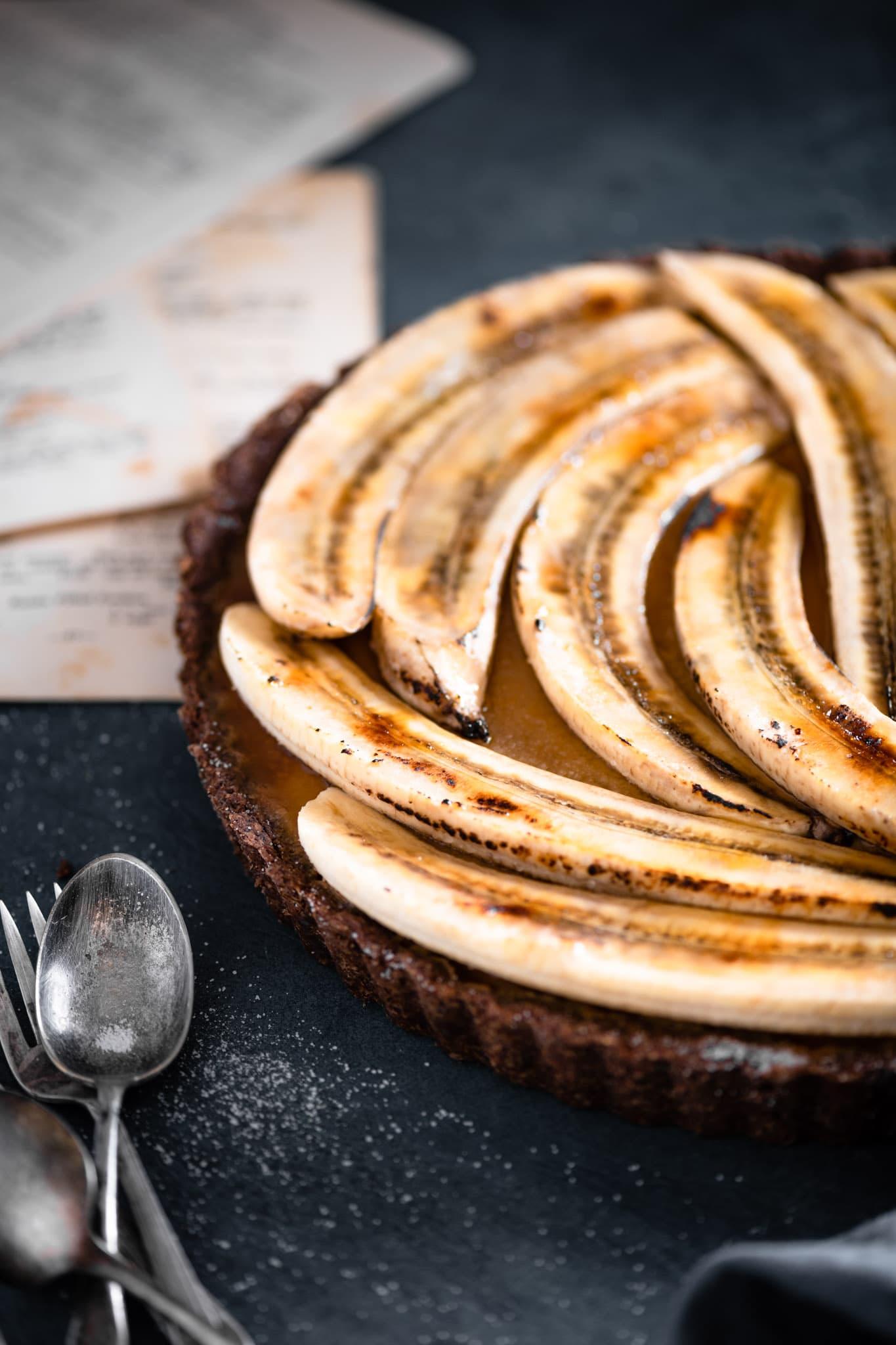 Brulee Banana on a vanilla caramel tart.