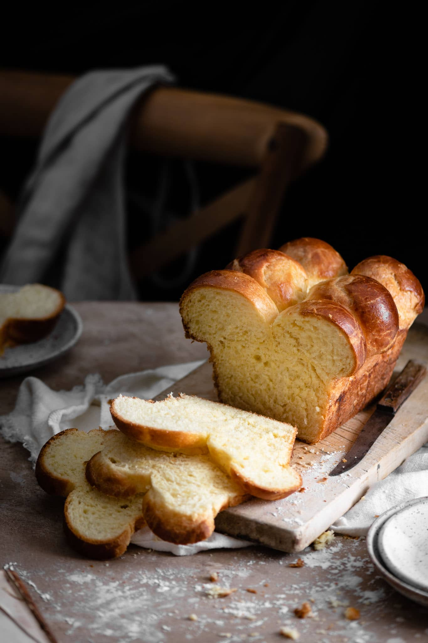 Recipe for Brioche Nanterre bread.